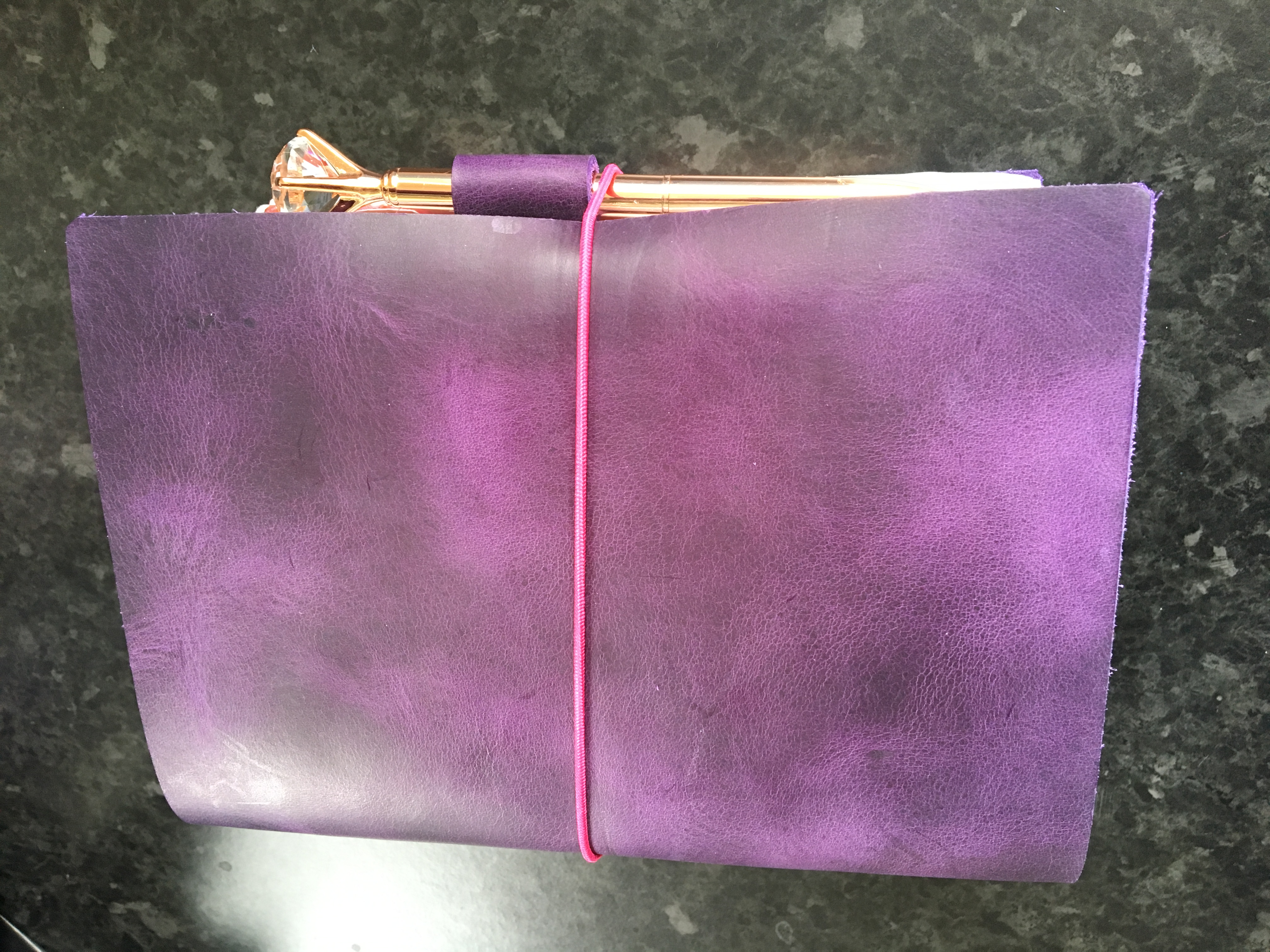 Purple DIY Travellers Notebook